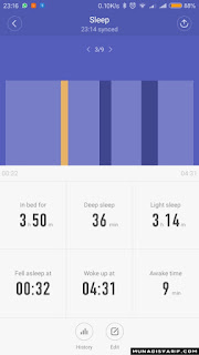 Sleep Tracking Mi Band 2
