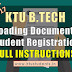 Uploading of Documents to the Portal and Student Registration - Rescheduled - Instructions