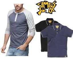 CampusSutra Men's Clothing – Minimum 50% Off @ Amazon