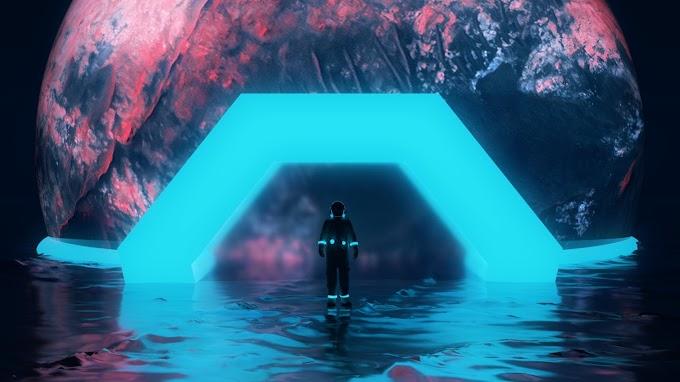Astronauta, Planeta, Neon, Água