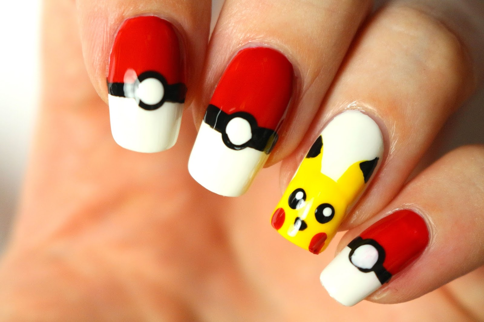 Join The Pokemon Go Rush With Pokemon Nails Diy