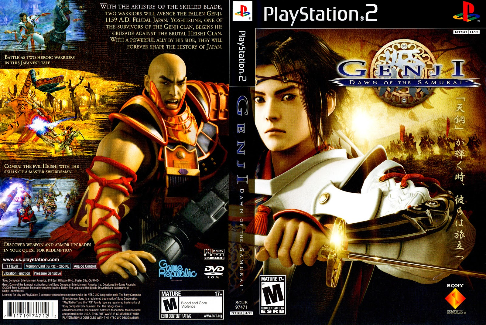 Genji Dawn Of The Samurai Ps2 Game Cover