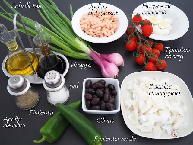 Ingredientes para la preparación