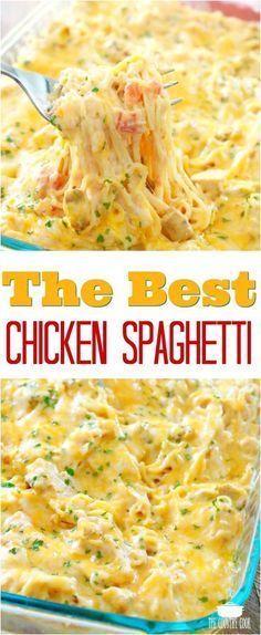 Creamy Cheesy Chicken Spaghetti