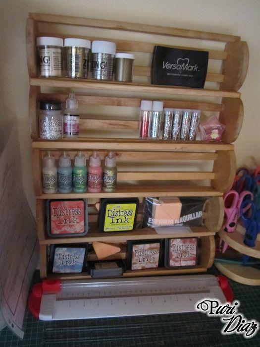 Manualidades puri diaz organizando mi zona de manualidades for Soporte utensilios cocina