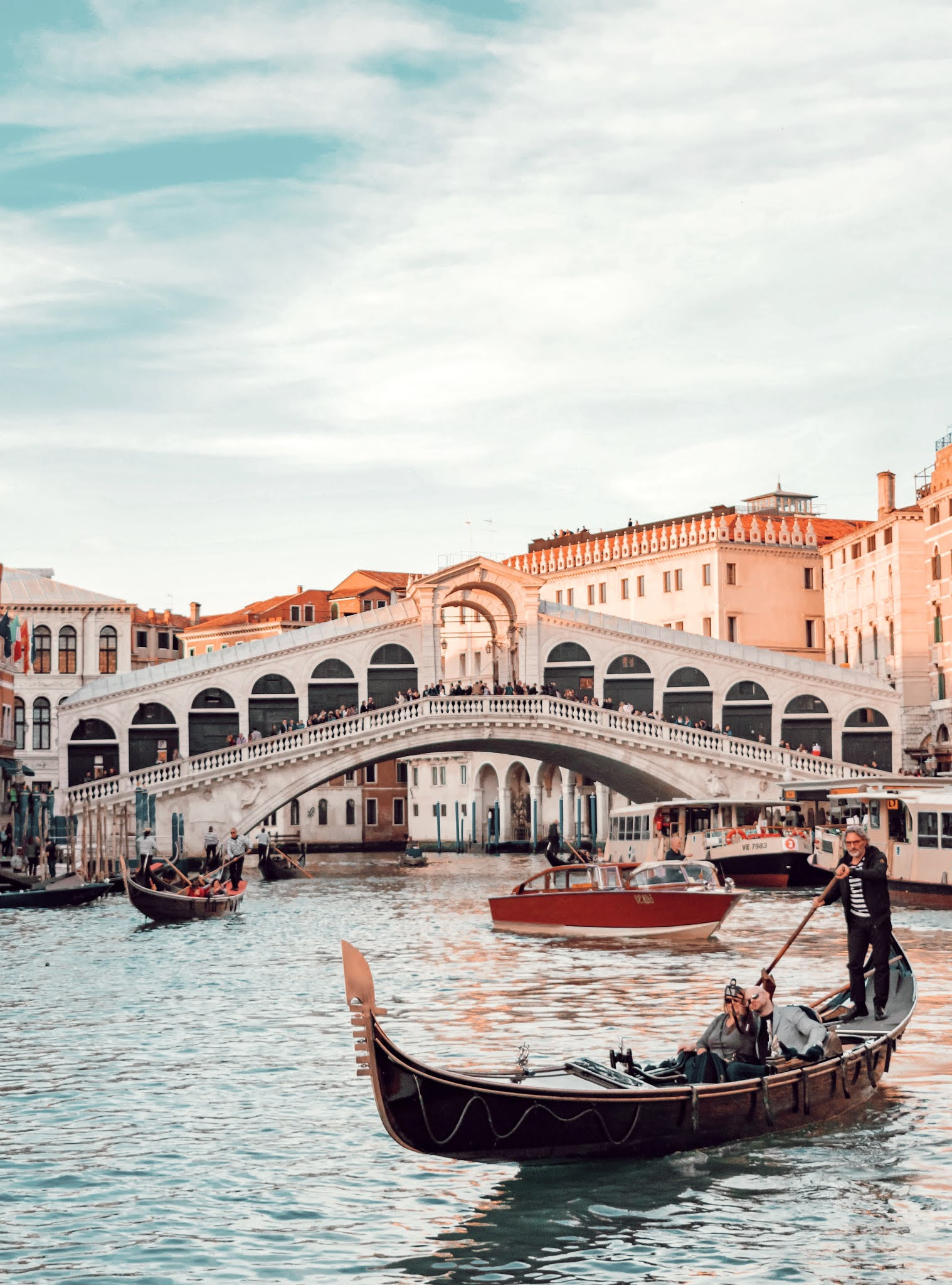 Gondola on the canals of Venice, Italy