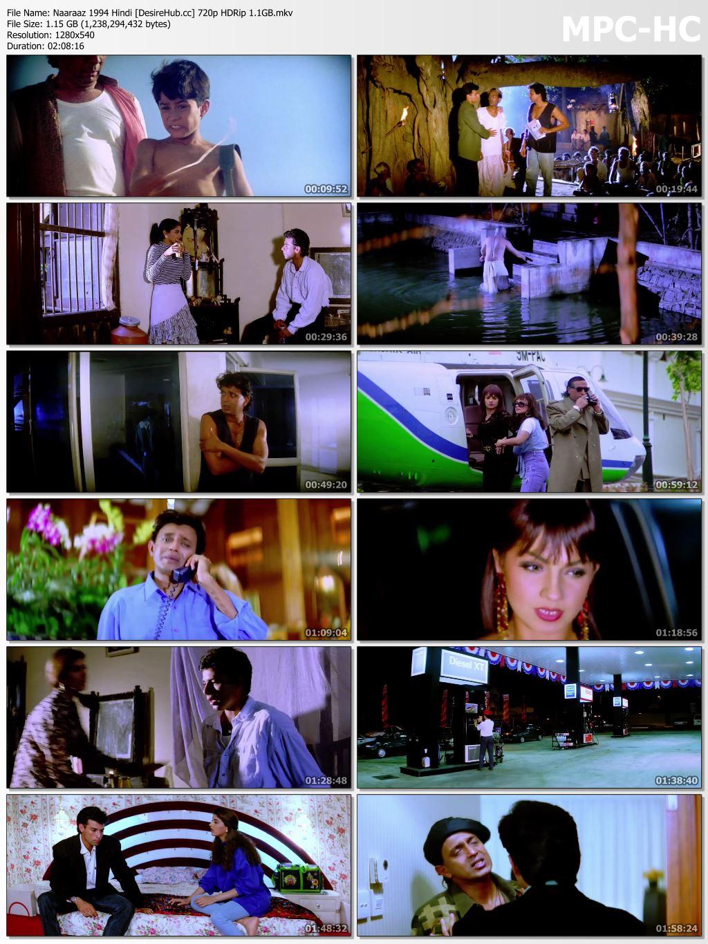 Naaraaz 1994 Hindi 480p HDRip 350mb Desirehub