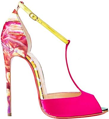 Pink Christian Louboutin Senora T-strap sandal #brilliantluxury