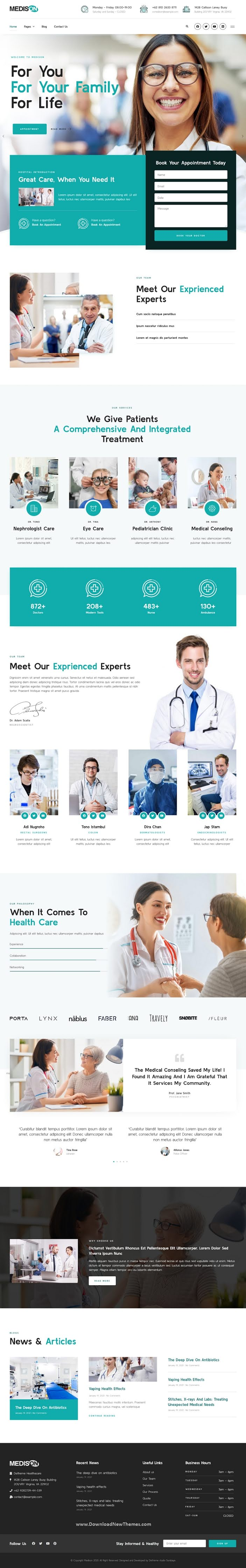 Hospital and Healthcare Clinic Elementor Template Kit