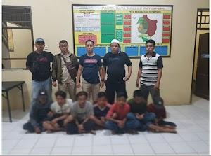 Polsek Patimpeng Ringkus 7 Pencuri Uang Celengan di TK Taumau Pertiwi Masago