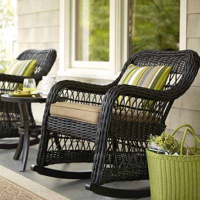 wicker outdoor patio furniture lowes - Furniture Design ...