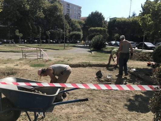 Albanian archeological expedition in search of the Roman hippodrome of 'Dyrrhachium'