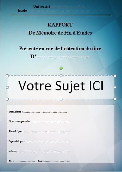 Docx Modele Page De Garde Rapport De Stage Word Stagepfe