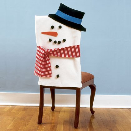 Craft: Snowman Chair Covers