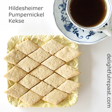 "Hildesheimer Pumpernickel Kekse - A Traditional German Cookie (this photo is of the ""not quite right"" version / www.delightfulrepast.com"