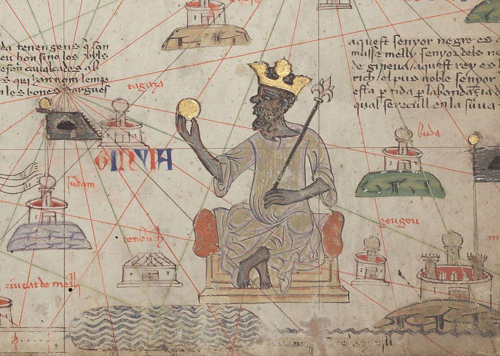 King Mansa Musa as depicted in the Catalan Atlas.