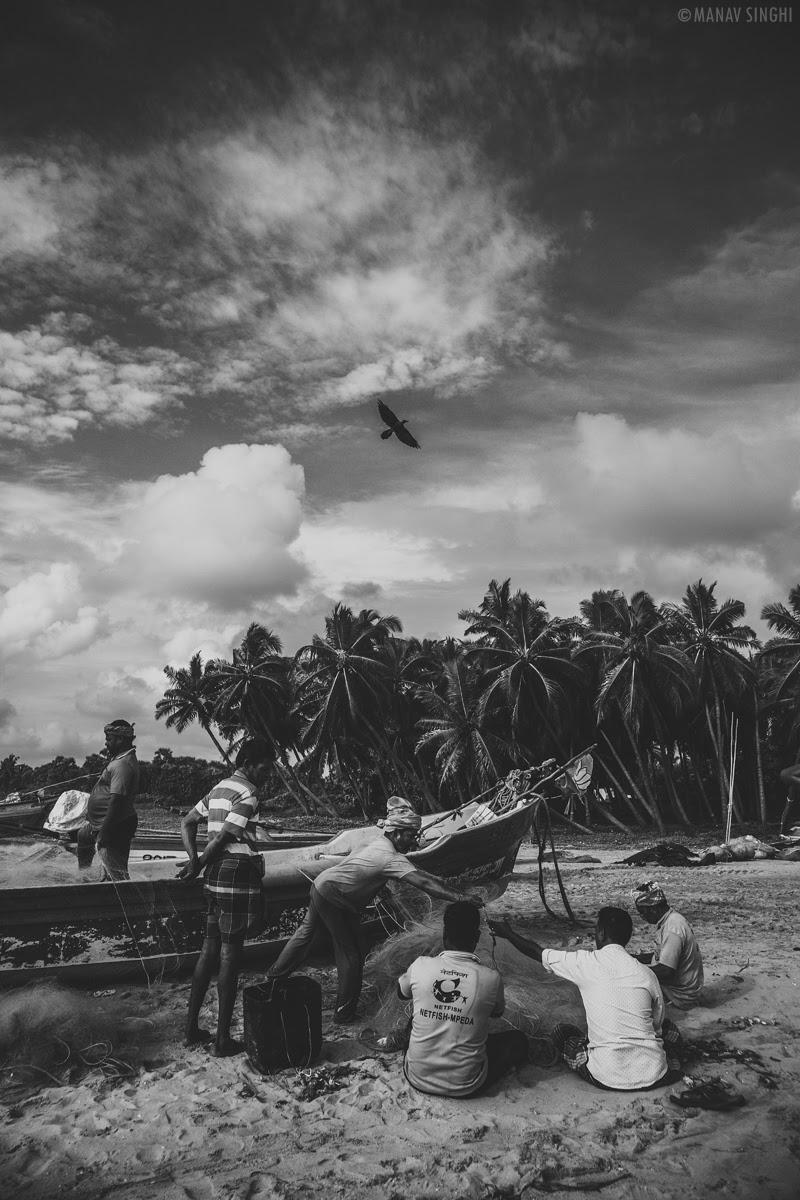 Shot at Fisherman Area near Le Pondy Beach Resort, Pondicherry - 29-Oct-2019
