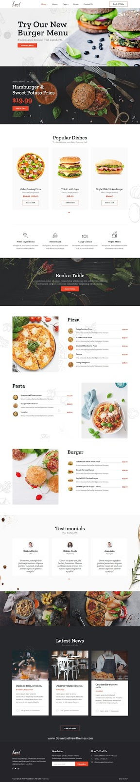 Restaurant & Bistro WordPress Template