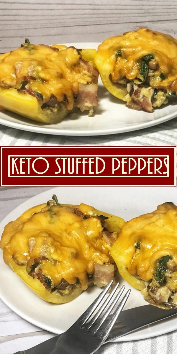Keto Stuffed Peppers #Breakfastideas