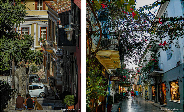 Ruas e ladeiras de Nafplio, Grécia