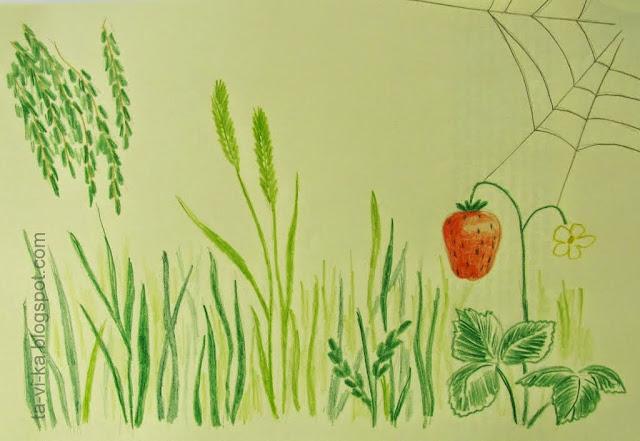 нарисованная полянка