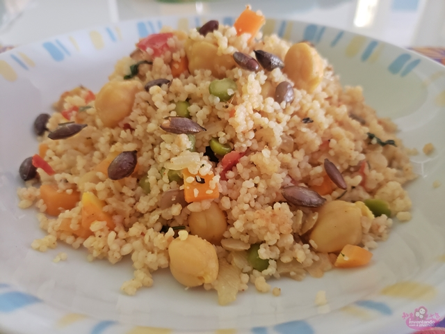Receita Couscous Marroquino Vegano com Grãos