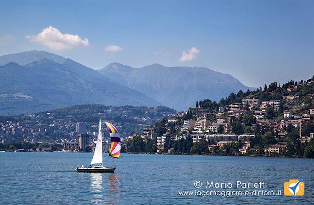 Vela sul lago di Lugano