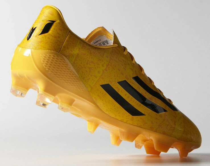 bd7930c05887 Lionel Messi, who was among the three Ballon d'Or finalists and won the  2014 World Cup Golden Ball, will wear the gold Adidas Adizero Boot in La  Liga ...