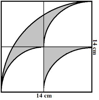 Contoh Soal dan Pembahasan Kombinasi Antara Persegi dan Lingkaran