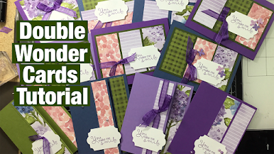 Learn how to make the Double Wonder Cards using the Hydrangea Haven Designer Series Paper click here to learn more