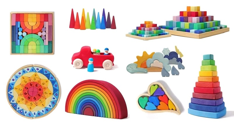 Grimms rainbow, hearts, sparkling mandala, weather set, large stepped pyramid and more