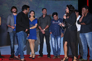 Shravya Reddy in Deep Neck Leg Split Black Gown at Rogue Movie Teaser Launch 1st March 2017 056.JPG