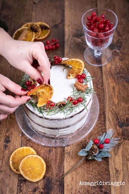 Christmas naked cake o torta nuda di Natale