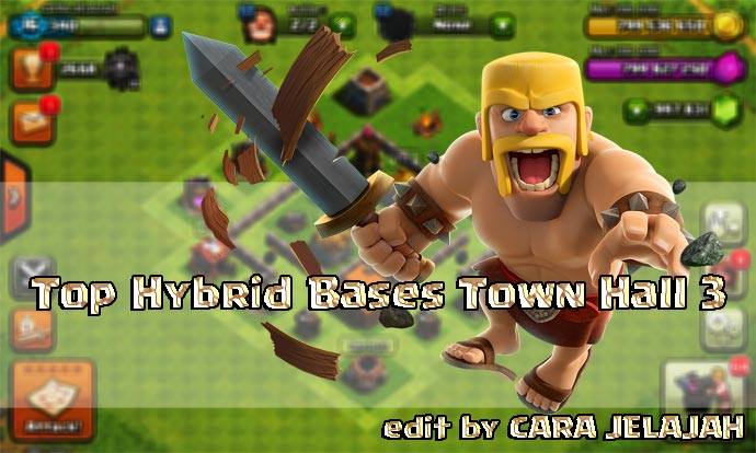 Desain Base Hybrid Clash Of Clans Town Hall 3 Update Terbaru