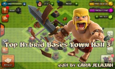Susunan Formasi Base Hybrid Town Hall 3 Terbaik dan Terbaru