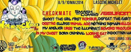 WORMSTOCK 2.0 : Jour-1 / Jeudi 8 Mai 2014 : CHECKMATE - OESTRE - ELLIPSE - MY ANSWER - BEYOND PREJUDICE @ La Scène Michelet - Nantes