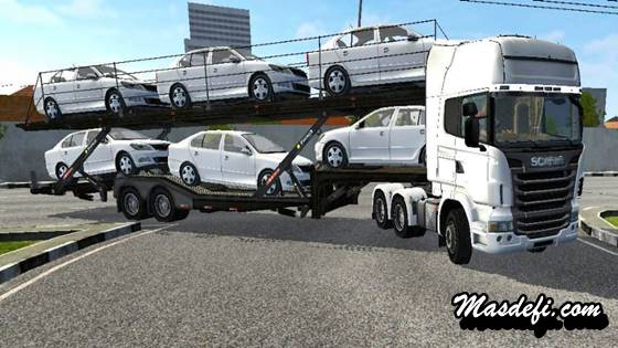 mod truck scania r620 trailer angkut mobil
