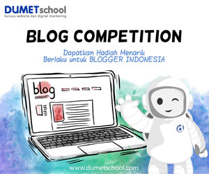 Lomba Blog DUMET School, diadakan Tiap Bulan