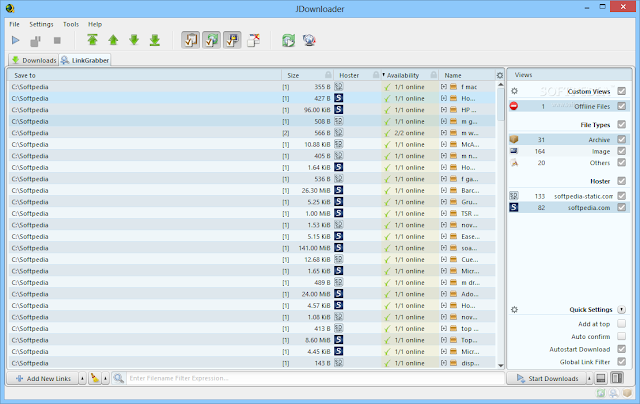 برنامج التحميل من الانترنت JDownloader 0.9.581