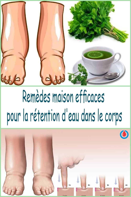 Remèdes maison efficaces pour la rétention d'eau dans le corps