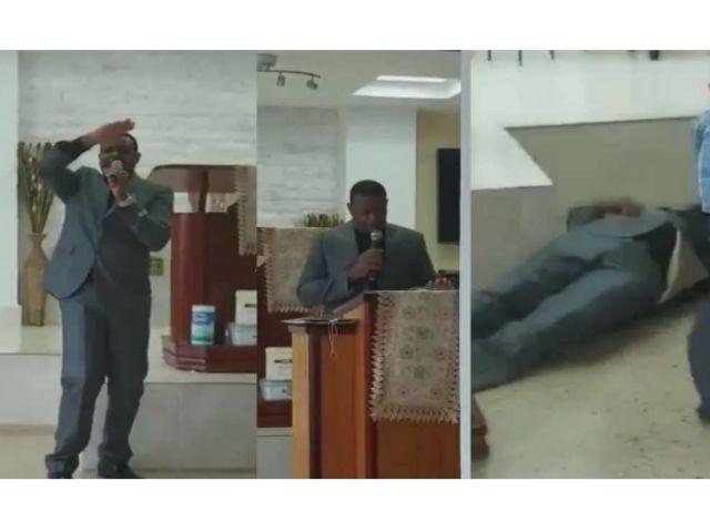 Pastor morre no púlpito ao glorificar a Deus