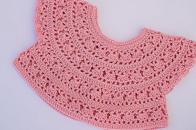5 - Crochet Imagen Canesú redondo sacado del cuadrado por Majovel Crochet