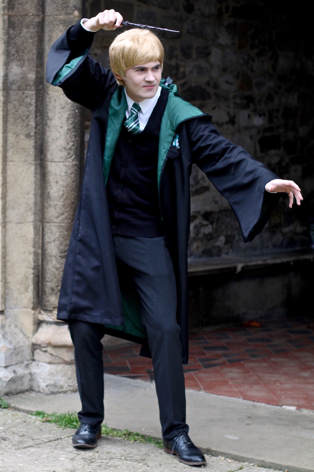 Draco Malfoy Slytherin from Harry Potter easy homemade Halloween costume