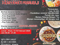 Lowongan Kerja Jember DOPOTA Cafe & Donuts Jember