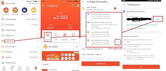 Cara Top Up Saldo Shopee Pay Melalui Aplikasi Dana