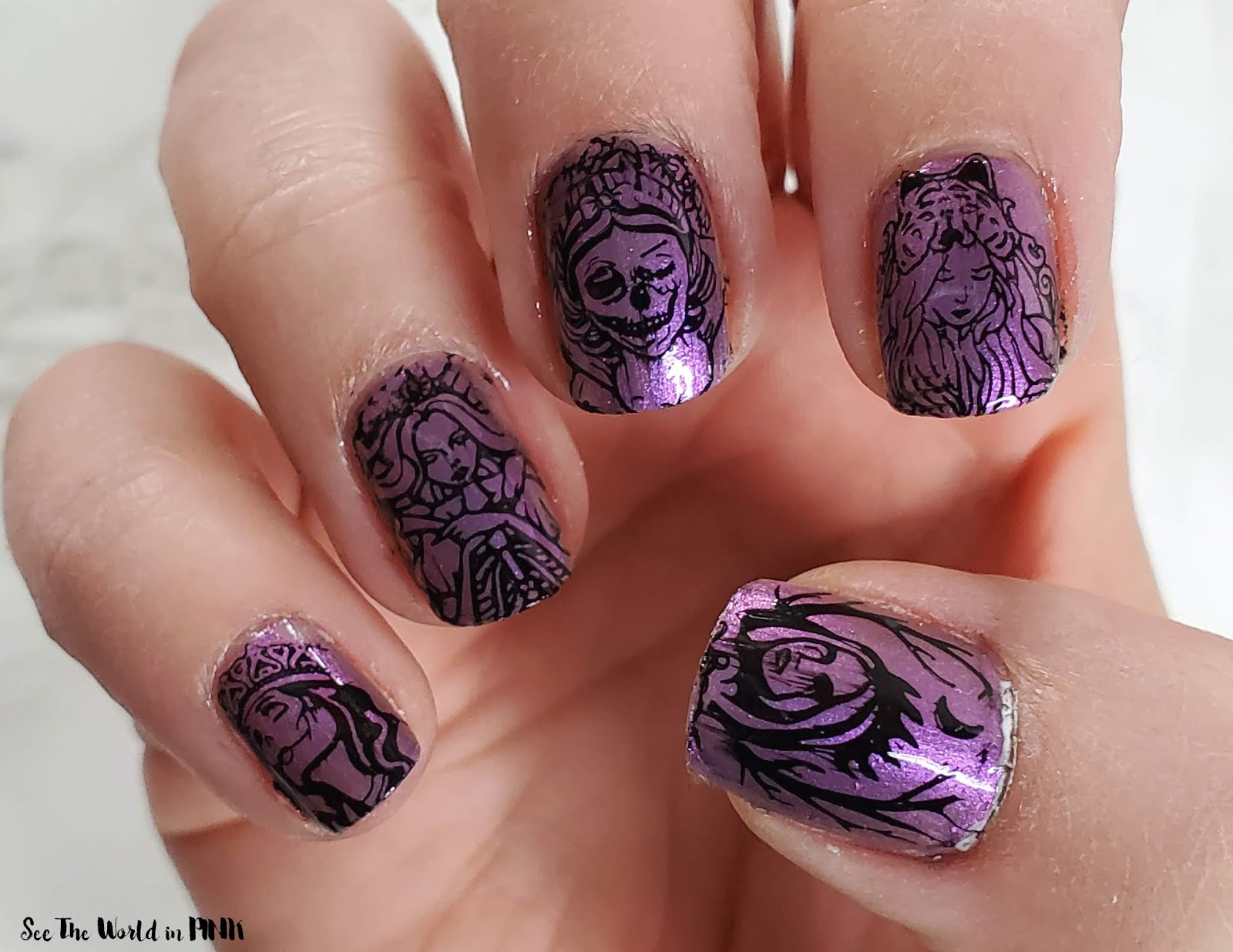 "Manicure Monday - ""Happily Never After"" Haunted Fairytale Nails"