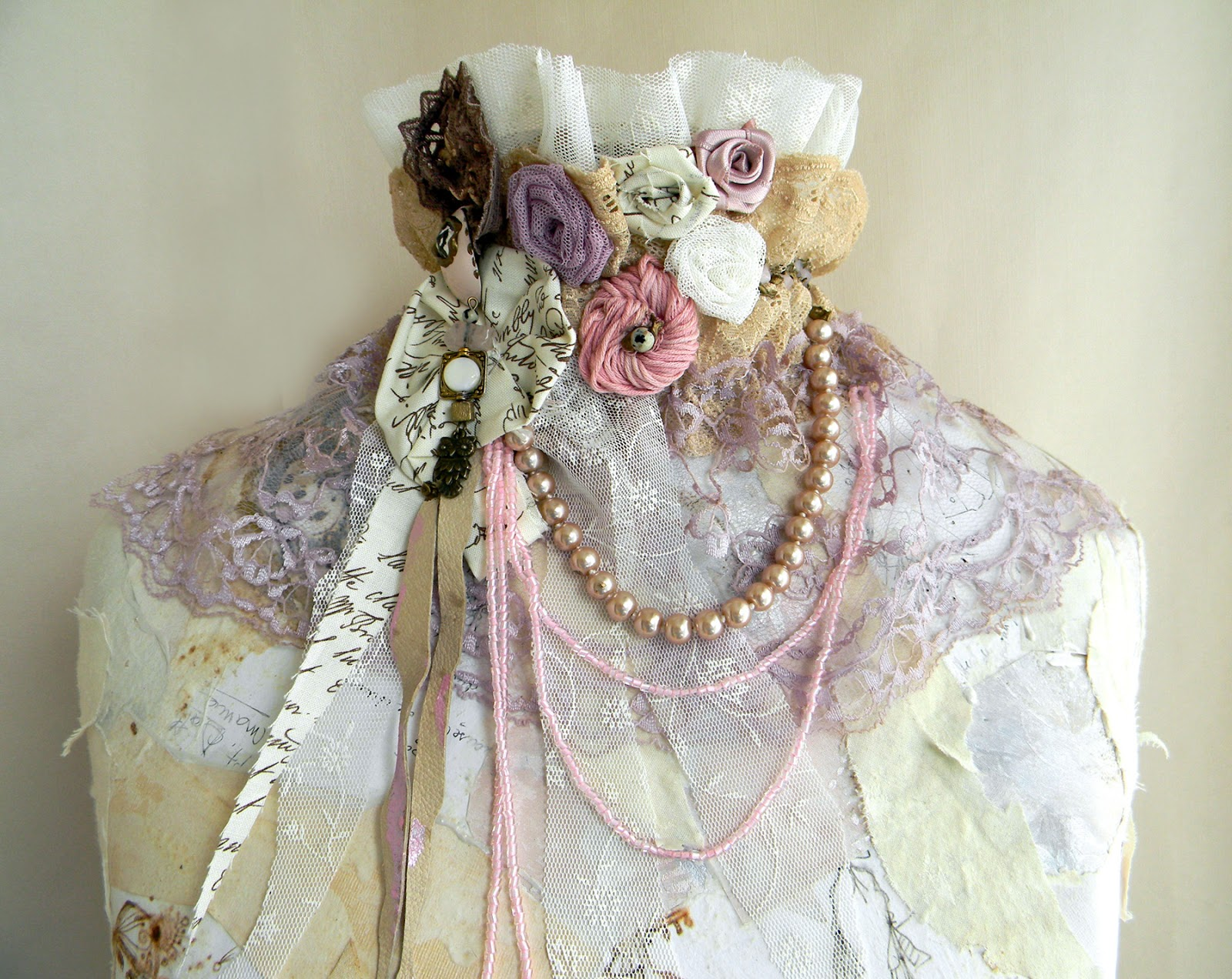 Unique handmade Collar Fairy Jabot Handcrafted Fashion Accessory