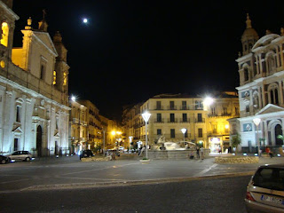 Caltanissetta's beautiful Piazza Garibaldi is the Sicilian city's main square