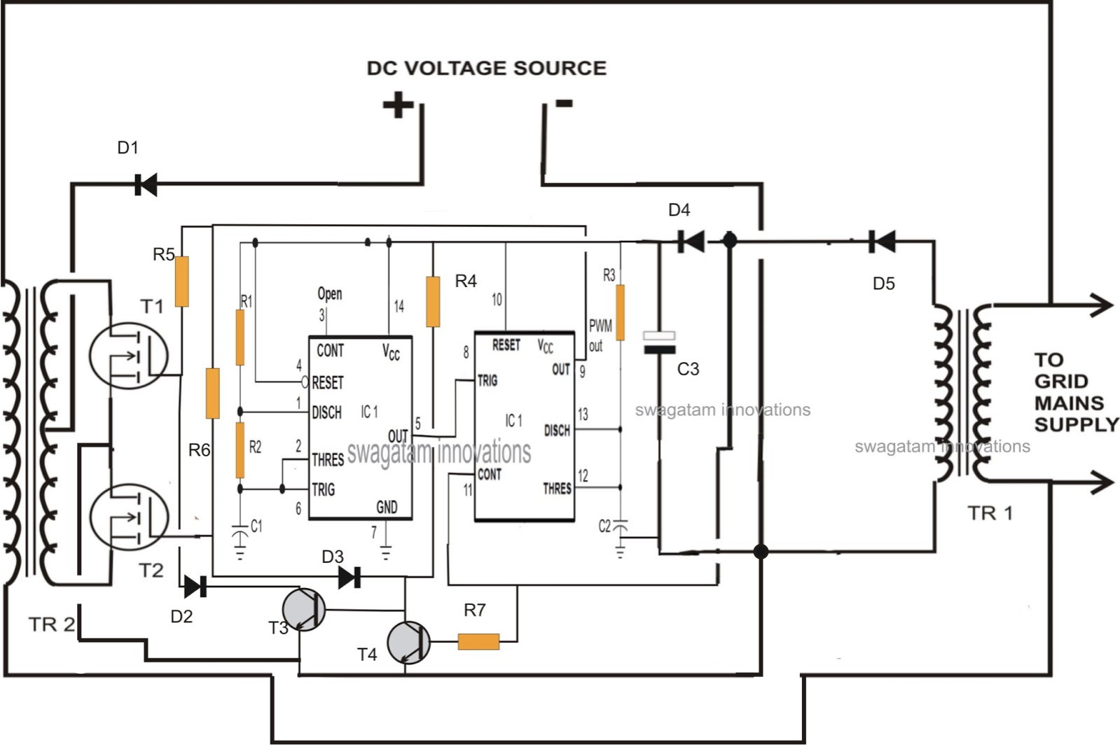 Grid Tie Inverter Circuit Diagram