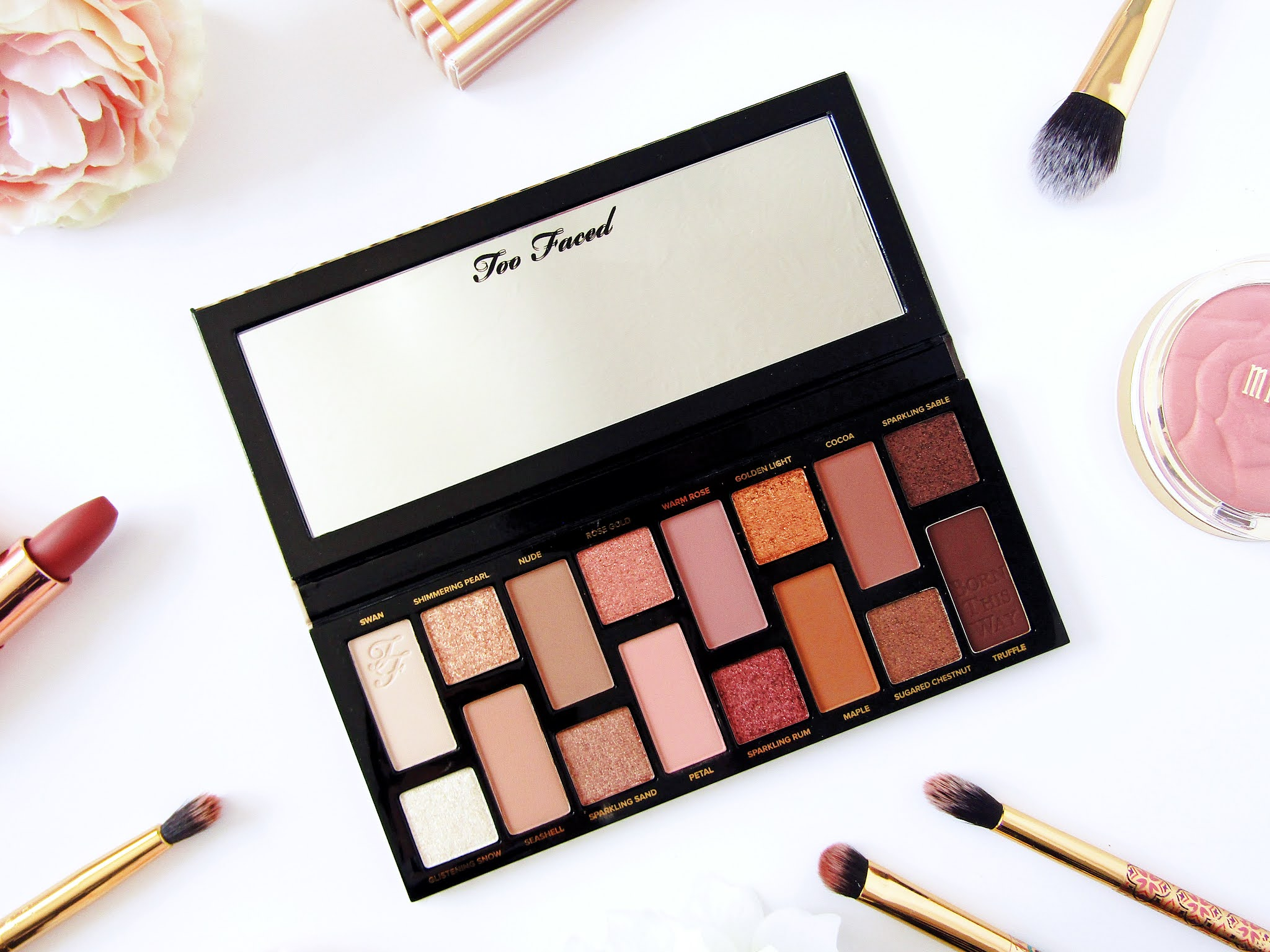 A photo of the Too Faced Born This Way: The Natural Nudes eyeshadow palette.